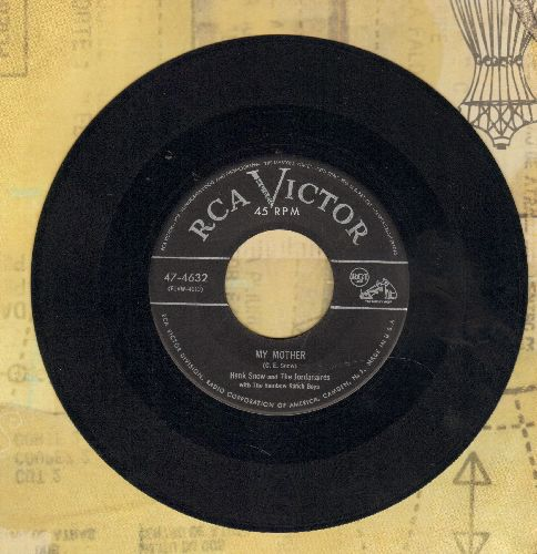 Snow, Hank - My Mother/I Just Telephone Upstairs  - VG7/ - 45 rpm Records