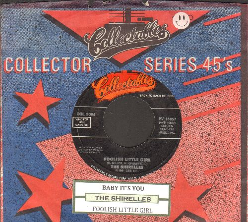 Shirelles - Foolish Little Girl/Baby It's You (double-hit re-issue with juke box label and company sleeve) - EX8/ - 45 rpm Records