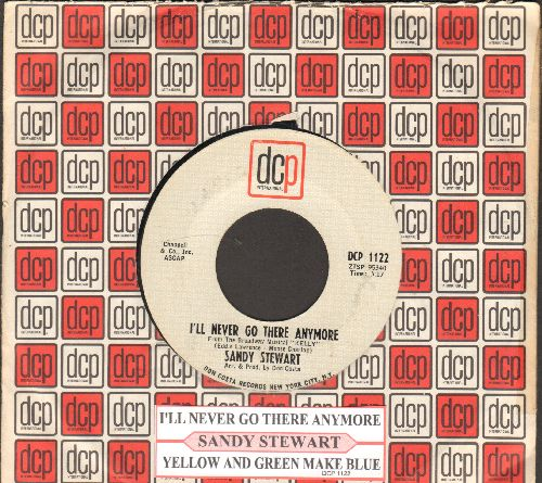 Stewart, Sandy - I'll Never Go There Anymore/Yellow And Green Make Blue (with juke box label and company sleeve) - NM9/ - 45 rpm Records