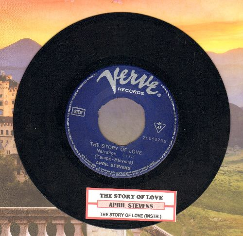 Stevens, April - The Story Of Love/The Story Of Love (Instrumental) (GREEK Pressing with juke box label) - NM9/ - 45 rpm Records