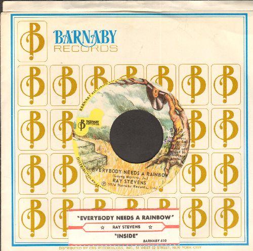 Stevens, Ray - Everybody Needs A Rainbow/Inside (with juke box label and RARE Barnaby coimpany sleeve) - NM9/ - 45 rpm Records