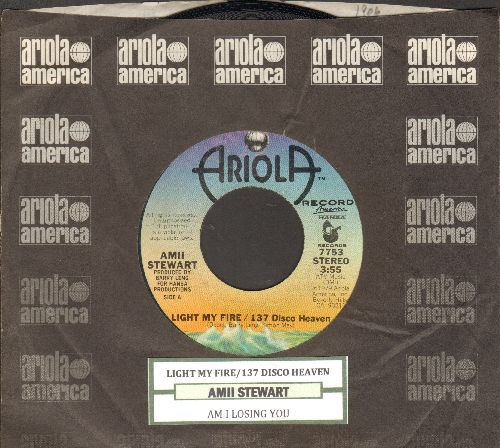 Stewart, Amii - Light My Fire/137 Disco Heaven/Am I Losing You (with juke box label and company sleeve) - NM9/ - 45 rpm Records