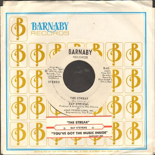 Stevens, Ray - The Streak/You've Got The Music Inside (with juke box label and Barnaby company sleeve) - NM9/ - 45 rpm Records