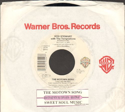 Stewart, Rod & The Temptations - The Motown Song/Sweet Soul Music (with juke box label and company sleeve) - EX8/ - 45 rpm Records