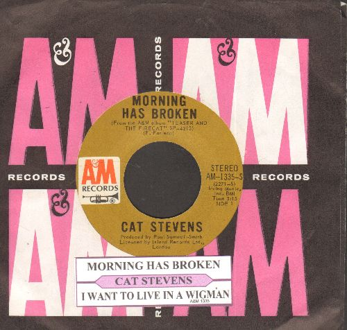 Stevens, Cat - Morning Has Broken/I Want To Live In A Wigwam (MINT condition with juke box label and vintage A&M company sleeve) - M10/ - 45 rpm Records