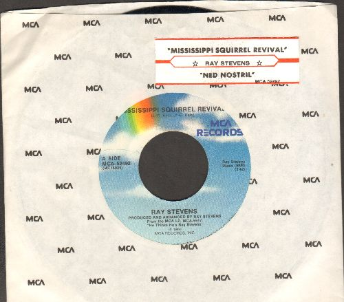 Stevens, Ray - Mississippi Squirrel Survival/Ned Nostril (with juke box label and company sleeve) - NM9/ - 45 rpm Records