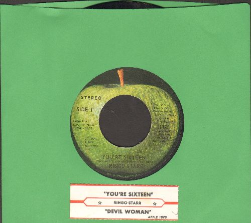 Starr, Ringo - You're Sixteen/Devil Woman (with juke box label) - EX8/ - 45 rpm Records