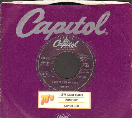 Sweet - Love Is Like Oxygen/Cover Girl (with juke box label) - NM9/ - 45 rpm Records