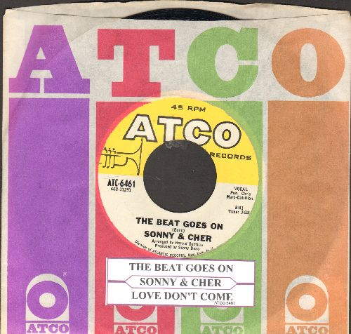 Sonny & Cher - The Beat Goes On/Love Don't Come (with juke box label and vintage Atco company sleeve) - NM9/ - 45 rpm Records