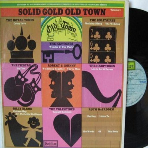 Fiestas, Harptones, Robert & Johnny, others - Solid Gold Old Town: So Fine, We Belong Together, Life Is But A Dream, Tonight Kathleen (Vinyl STEREO LP record) - NM9/VG7 - LP Records