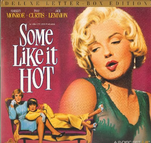 Some Like It Hot - Some Like It Hot - The Billy Wilder Classic starring Marilyn Monroe, Tony Curtis and Jack Lemmon in Deluxe Letter-Box Edition (2 Discs, gate-fold cover) - NM9/EX8 - LaserDiscs