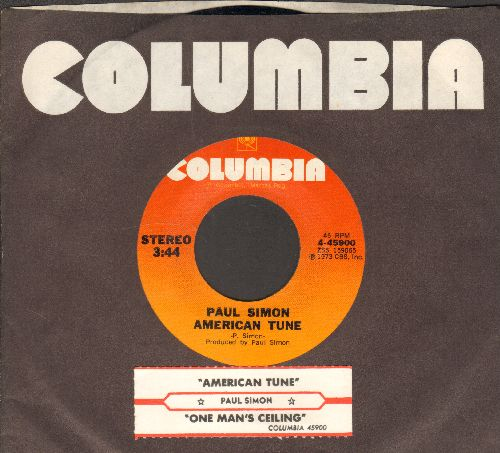 Simon, Paul - American Tune/One Man's Ceiling Is Another Man's Floor (with juke box label and company sleeve) - NM9/ - 45 rpm Records