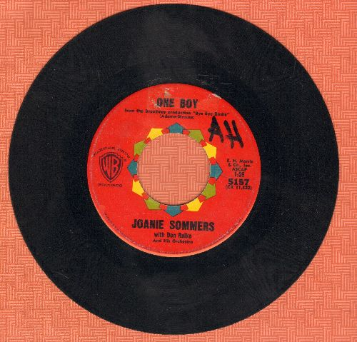 Sommers, Joanie - One Boy/I'll Never Be Free (wol) - VG7/ - 45 rpm Records