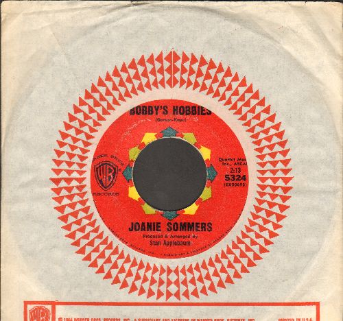 Sommers, Joanie - Bobby's Hobbies (FANTASTIC Vintage Girl-Sound)/Good-Bye Joey (with vintage Warner Brothers company sleeve) - EX8/ - 45 rpm Records