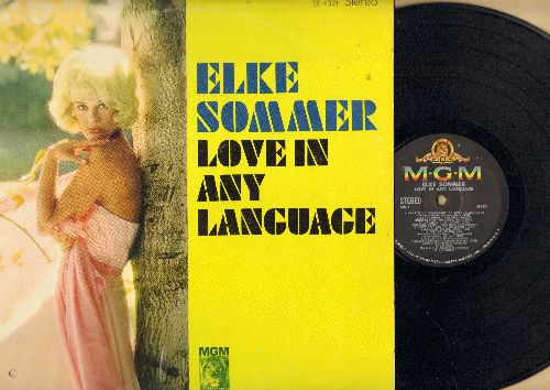 Sommer, Elke - Love In Any Language: Stardust, He's A Clown, Ich Liebe Dich (sung in German), Amor (sung in Spanish), Parlez Moi D'Amour (sung in French), Melancholie (sung in Italian), Don't Stop Loving Me (Vinyl STEREO LP record) - NM9/EX8 - LP Records
