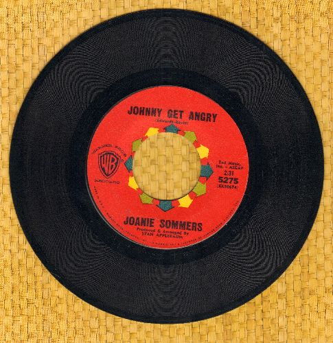 Sommers, Joanie - Johnny Get Angry/Theme From A Summer Place (with vintage Warner Brothers company sleeve) - NM9/ - 45 rpm Records