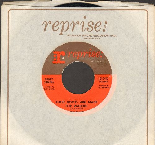Sinatra, Nancy - These Boots Are Made For Walkin' (Juke Box Favorite!)/The City Never Sleeps At Night (with Reprise company sleeve) - EX8/ - 45 rpm Records