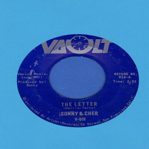 Sonny & Cher - The Letter/Spring Fever - NM9/ - 45 rpm Records