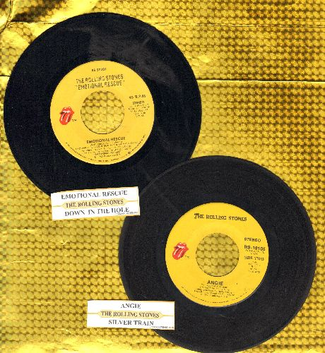 Rolling Stones - 2 for 1 Special: Silver Train/Emotional Rescue (2 vintage first issue 45rpm records with juke box labels for the price of 1!) - VG7/ - 45 rpm Records