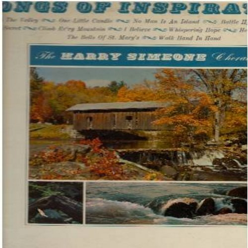 Simeone, Harry Chorale - Songs Of Inspiration: Peace In The Valley, Battle Hymn Of The Republic, Climb Ev'ry Mountain, The Bells Of St. Mary's (Vinyl MONO LP record, DJ advance pressing) - NM9/EX8 - LP Records