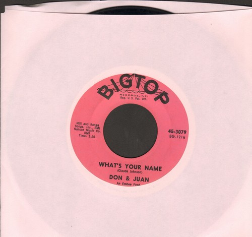 Don & Juan - What's Your Name/Chicken Necks (with juke box label)  - EX8/ - 45 rpm Records