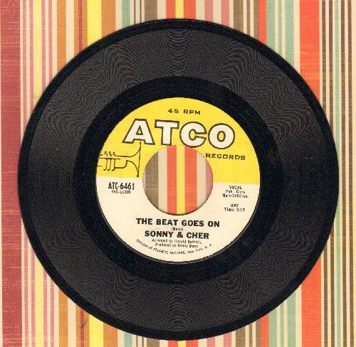 Sonny & Cher - The Beat Goes On/Love Don't Come (minor wol) - VG7/ - 45 rpm Records