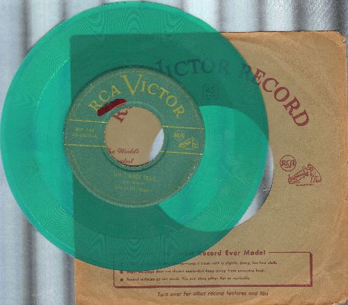 Sons Of the Pioneers - The Timber Trail/Trees (RARE vintage green vinyl pressing with RCA company sleeve) - VG6/ - 45 rpm Records