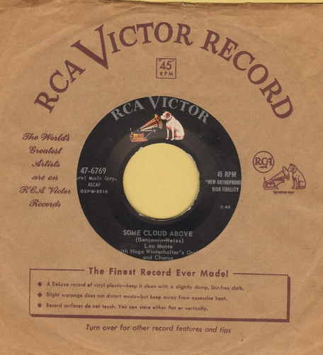 Monte, Lou - Roman Guitar/Some Cloud Above - NM9/ - 45 rpm Records
