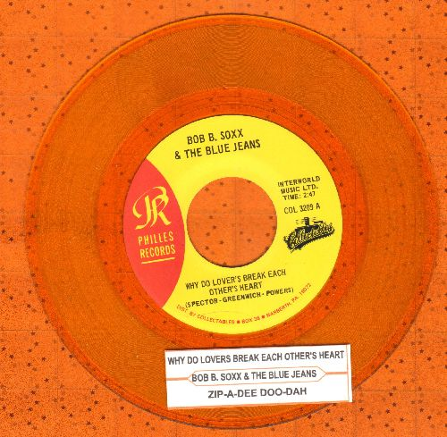 Soxx, Bob B. - Why Do Lovers Brak Each Other's Heart/Zip-A-Dee Doo-Dah (Transparent Gold Vinyl re-issue with juke box label) - NM9/ - 45 rpm Records