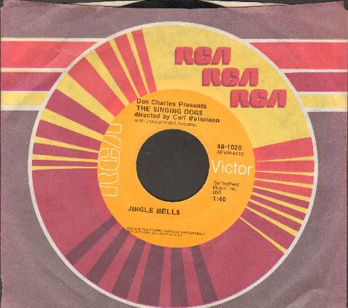 Singing Dogs - Jingle Bells/Oh Susanna (with RCA company sleeve) - EX8/ - 45 rpm Records