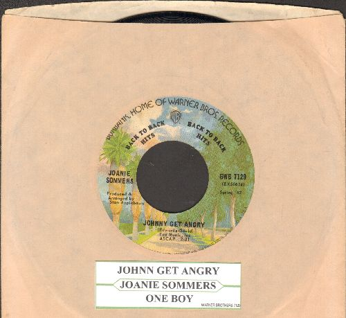 Sommers, Joanie - Johnny Get Angry/One Boy (early double-hit re-issue with juke box label and company sleeve)) - EX8/ - 45 rpm Records