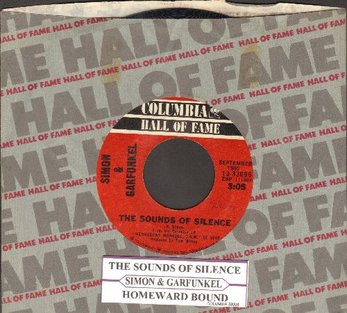Simon & Garfunkel - The Sounds Of Silence/Homeward Bound (double-hit reissue with Columbia company sleeve and juke box label) - EX8/ - 45 rpm Records
