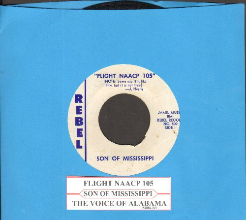 Son Of Mississippi - Flight NAACP 105/The Voice Of Alabama (with juke box label) - EX8/ - 45 rpm Records