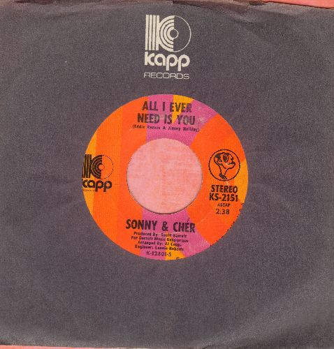Sonny & Cher - All I Ever Need Is You/I Got You Babe - NM9/ - 45 rpm Records