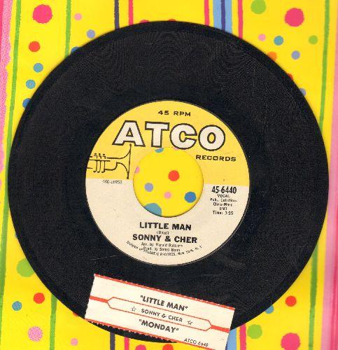 Sonny & Cher - Monday/Little Man  - NM9/ - 45 rpm Records
