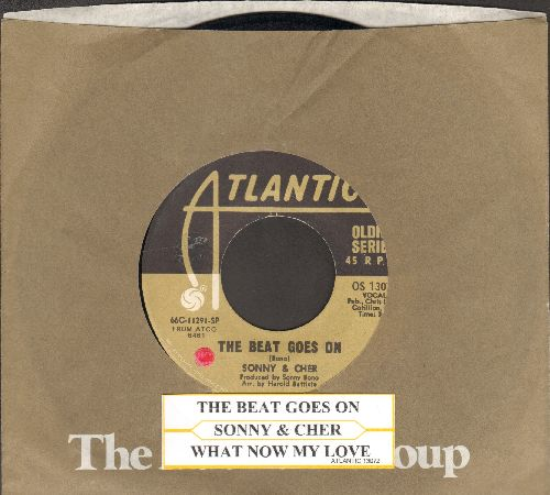 Sonny & Cher - The Beat Goes On/What Now My Love? (double-hit re-issue with juke box label) - EX8/ - 45 rpm Records