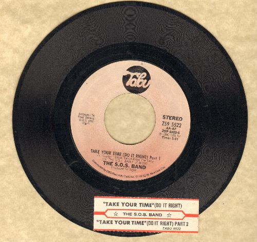 S.O.S. Band - Take Your Time (Do It Right) (Parts 1+2)(with juke box label) - EX8/ - 45 rpm Records