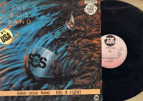 S.O.S. Band - Take Your Time (Do It Right) (7:30minutes Long Version)/(4:14 minutes Short Version) (12 inch vinyl Maxi Single, Dutch Pressing with picture cover) - VG7/VG7 - Maxi Singles