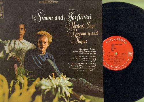 Simon & Garfunkel - Parsley, Sage, Rosemary and Thyme: Homeward Bound, 5th Street Bridge Song (Feelin' Groovy), For Emely Whenever I May Find Her (Vinyl STEREO LP record) - EX8/EX8 - LP Records