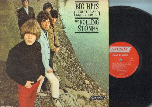 Rolling Stones - Big Hits (High Tide And Green Grass): (I Can't Get No) Satisfaction, As Tears Go By, 19th Nervous Breakdown, Get Off My Cloud (vinyl MONO LP record, gate-fold cover and picture pages) - VG7/EX8 - LP Records