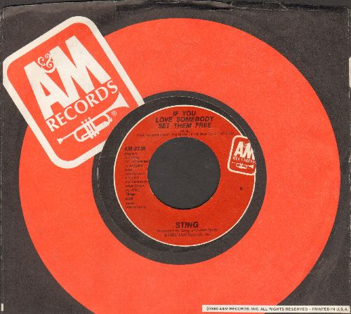 Sting - If You Love Somebody Set Them Free/Another Day (with A&M company sleeve) - NM9/ - 45 rpm Records