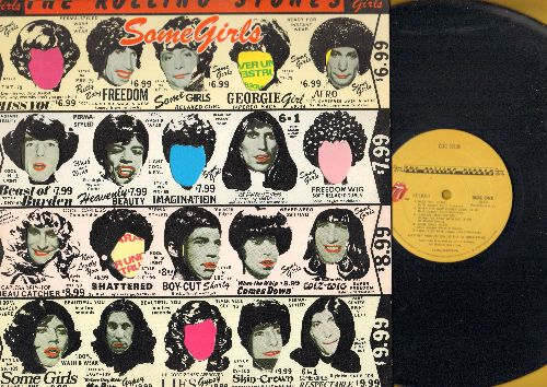Rolling Stones - Some Girls: Miss You, Beast Of Burden, Shattered, Imagination, Respectable (vinyl STEREO LP record) - NM9/EX8 - LP Records