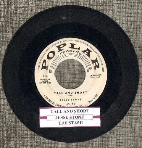 Stone, Jesse - Tall And Short/The Stash (DJ advance pressing with juke box label) (wol) - VG7/ - 45 rpm Records