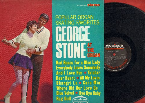 Stone, George - Popular Organ Skating Favorites: Telstar, Cara Mia, Blue Velvet, Bye Bye Baby, Rag Doll, Everybody Loves Somebody (vinyl STEREO LP record) - NM9/EX8 - LP Records