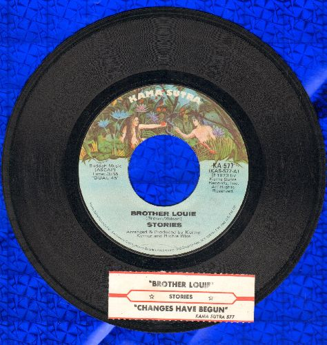 Stories - Brother Louie/What Comes After (with juke box label) - EX8/ - 45 rpm Records