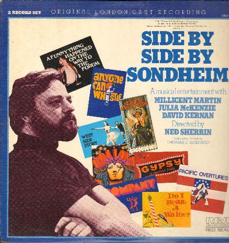 Side By Side Sondheim - Side By Side Sondheim - Original London cast Recording (2 vinyl STEREO LP records, gate-fold cover) - NM9/EX8 - LP Records