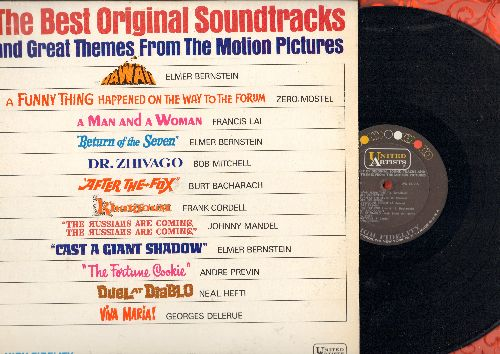 Bernstein, Elmer, Zero Mostel, others - The Best Original Soundtracks and Great Themes From The Motion Pictures: Return Of The Seven, After The Fox, Dr. Zhivago, Duel At Diablo (vinyl MONO LP record) - NM9/NM9 - LP Records