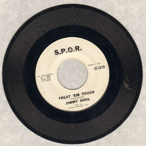 Soul, Jimmy - Treat 'Em Tough/Church Street In The Summertime (white label) - VG7/ - 45 rpm Records