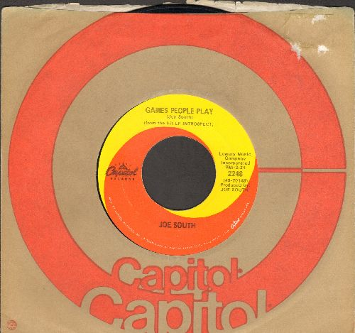 South, Joe - Games People Play/Mirror Of Your Mind (with Capitol company sleeve) - VG7/ - 45 rpm Records