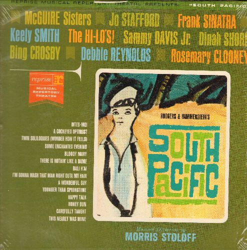 McGuire Sisters, Frank Sinatra, Keely Smith, Sammy Davis Jr, Debbie Reynolds, Dinah Shore, others - South Pacific: Some Enchanted Evening, Bali Ha'I, Happy Talk, Bloody Mary, A Wonderful Guy, There's Nothing Like A Dame (Vinyl MONO LP record, NICE conditi
